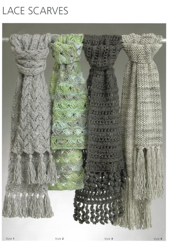 Eight-by-Six: Debbie Bliss free lacy scarf knitting pattern