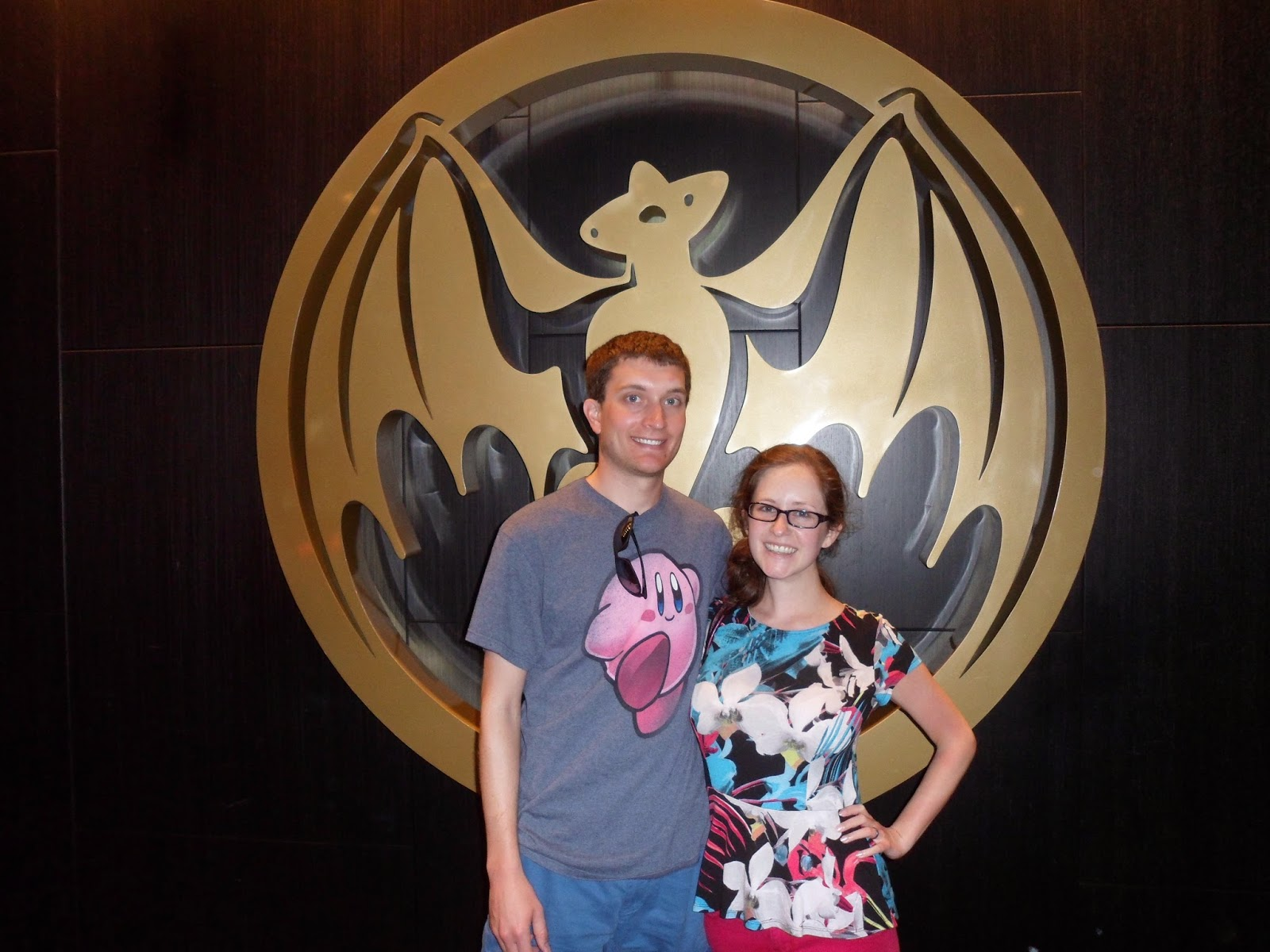 at the end of our tour of Casa Bacardi on our Puerto Rican honeymoon