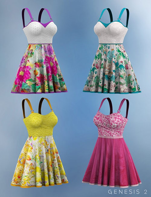 Garden Party Dress Textures