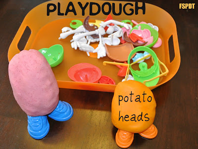 Playdough Potato Heads fun for the kids