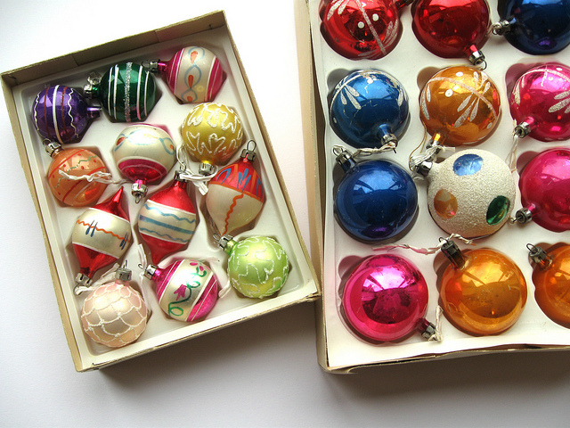 vintage glass christmas ornaments