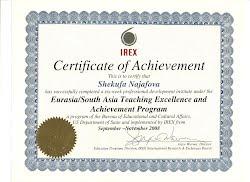 IREX US certificate