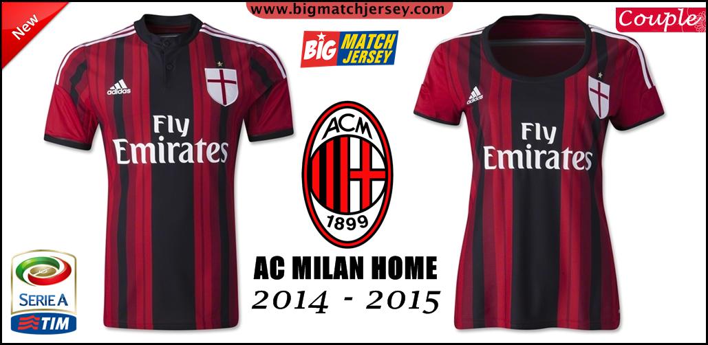 Jersey GO Ac Milan Couple Home GO Official 2014 - 2015