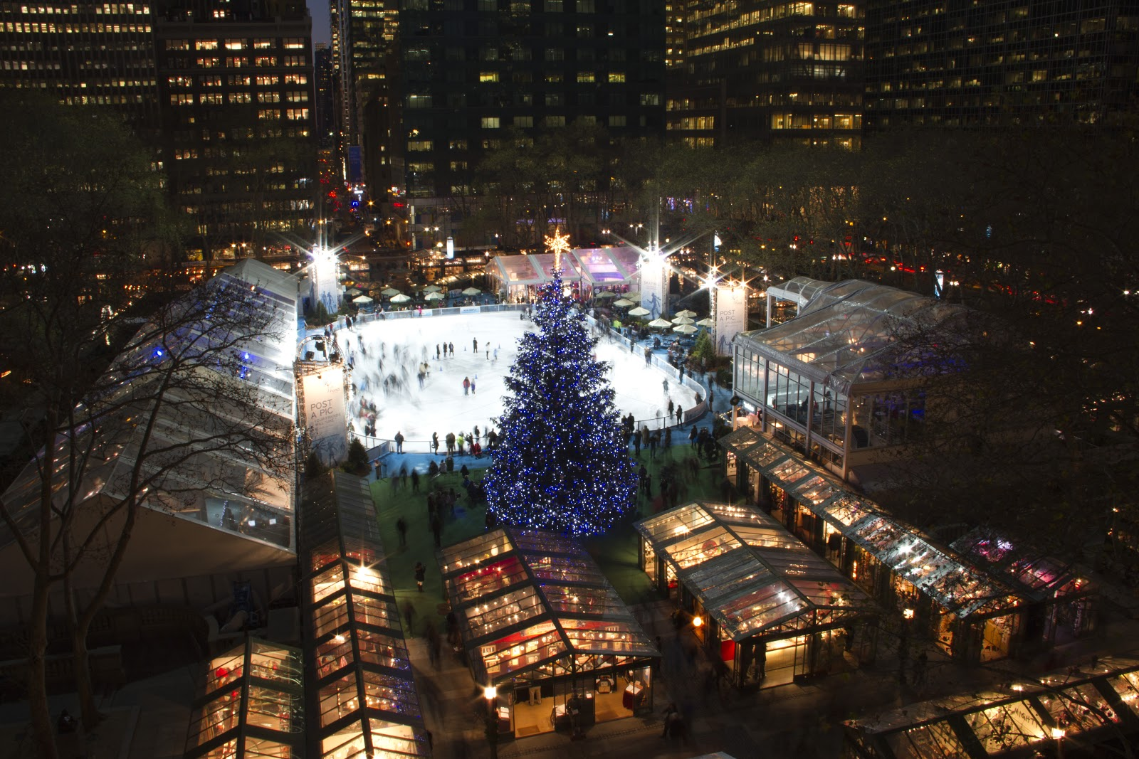 Bryant Park Blog: Citi Pond and The Holiday Shops are Open!
