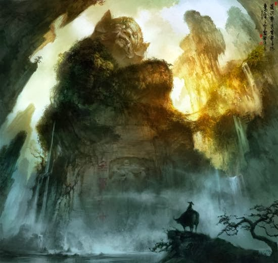 Wenjun Lin illustrations fantasy violence wars battles Mountain master