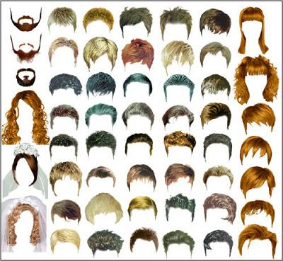 free photoshop backgrounds psd. Man & Female Hair in PSD for Photoshop ...
