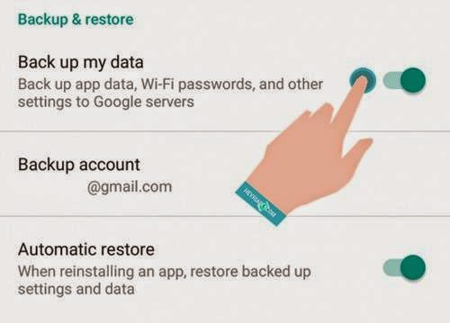 Backup Data Android Sebelum Factory Reset