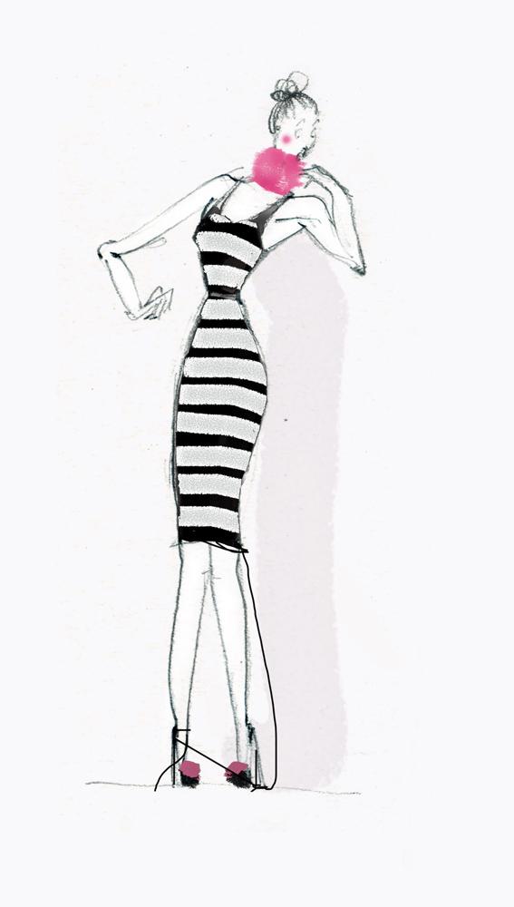 sartoria nascondino moda sfilata illustrazione