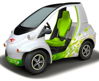Tiny single seat electric car by Toyota