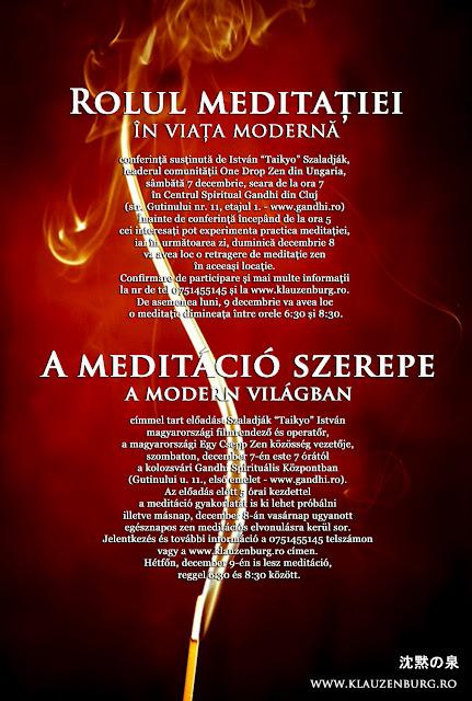 retragere zen, zazen, meditație, Cluj-Napoca
