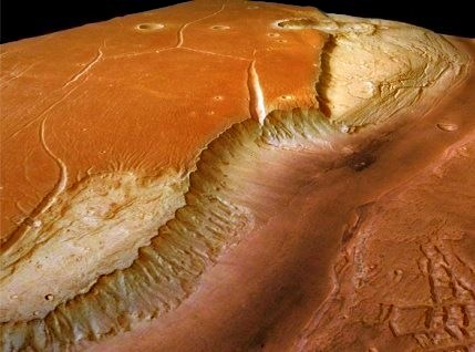 Resultado de imagen de Imagenes que denotan la presencia de Agua en Marte