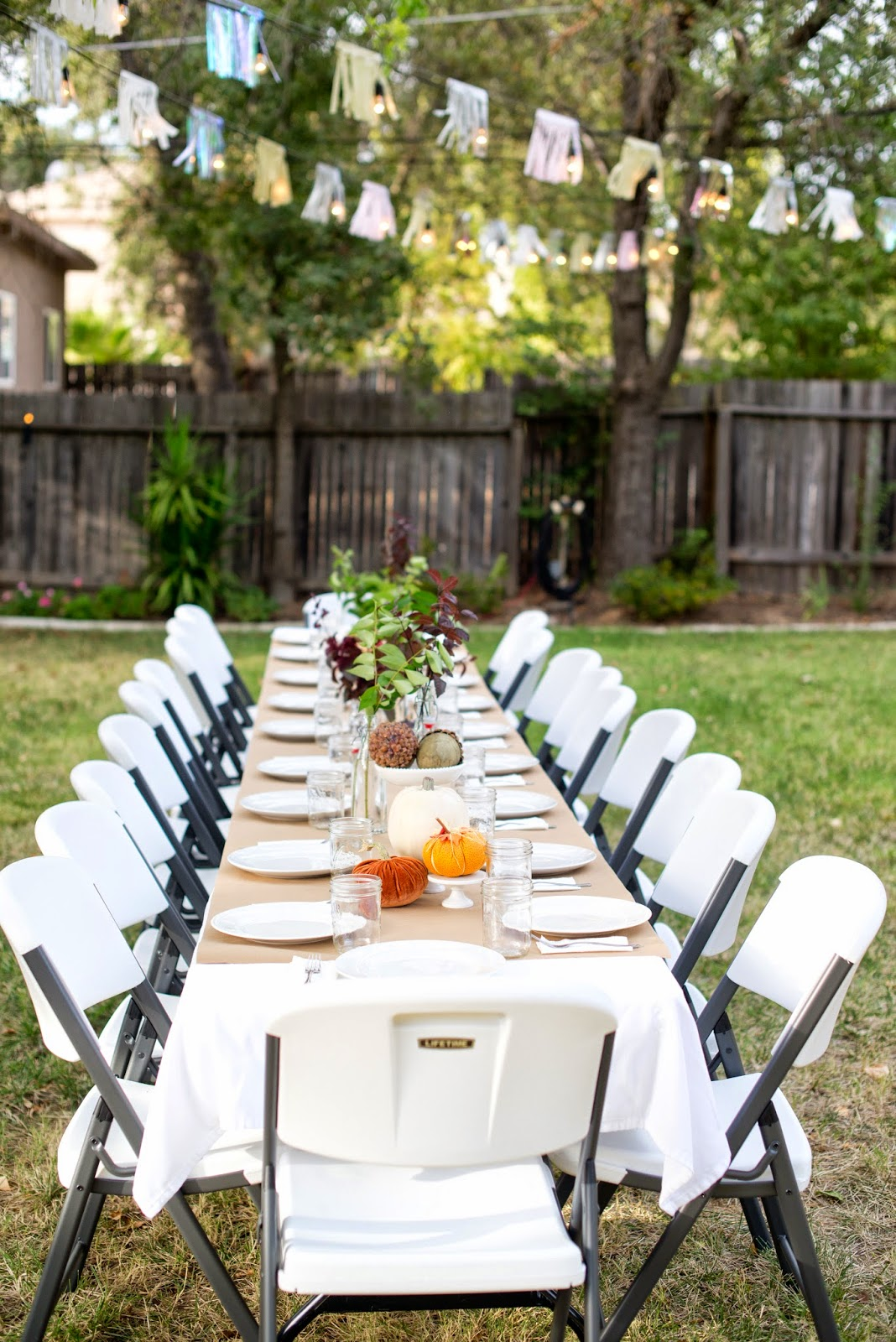 Domestic fashionista fall backyard entertaining birthday Fall decorating ideas for dinner party
