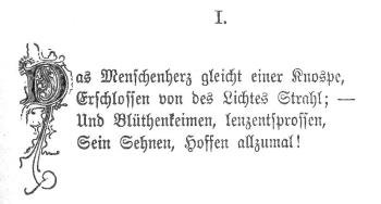 Mathilde Wesendonck: Gedicht I. In: Caritas. Dresden 1878
