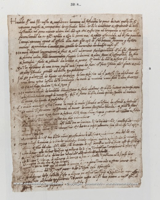 Leonardo Da Vinci's Resume Written In The 1480s
