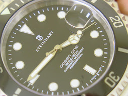 STEINHART OCEAN ONE DIVER 1000ft / 300m BLACK DIAL CERAMIC BEZEL - AUTOMATIC - GOOD CONDITION