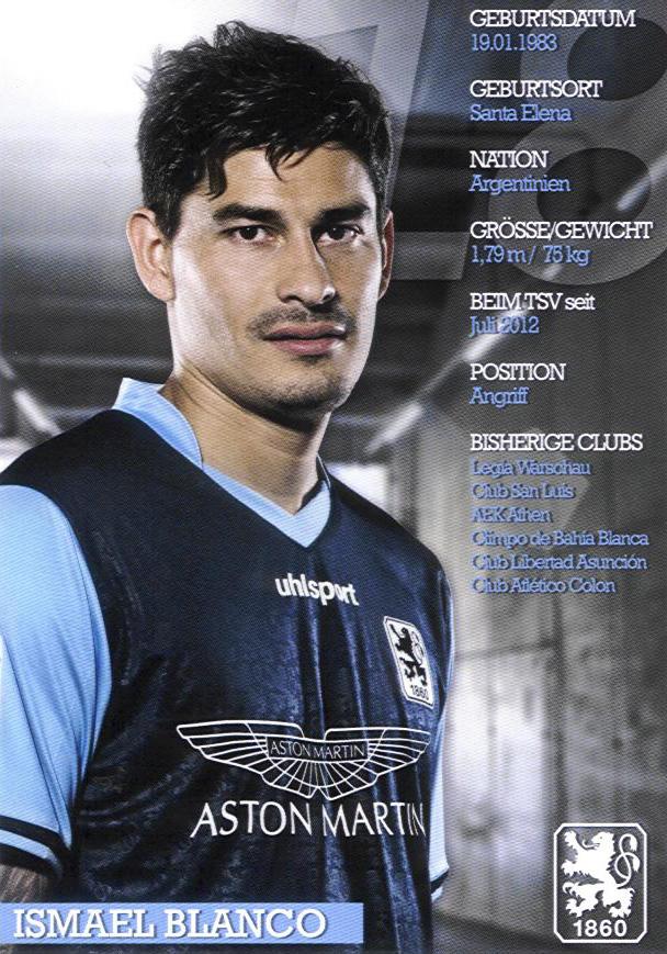 Ismael Blanco-Autogrammkarte 2012
