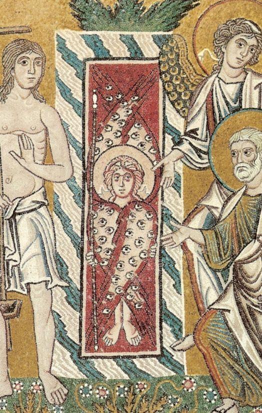 Cherubino posto a guardia dei giardini dell'Eden, Basilica dell'Assunta, Torcello, XI sec. c.ca dans immagini sacre cherubino+torcello