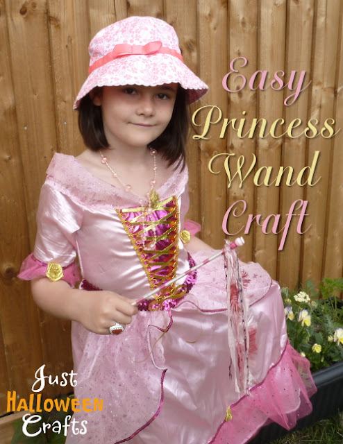 Making a princess or fairy wrapped wand