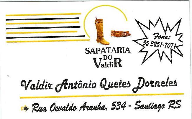 SAPATARIA DO VALDIR