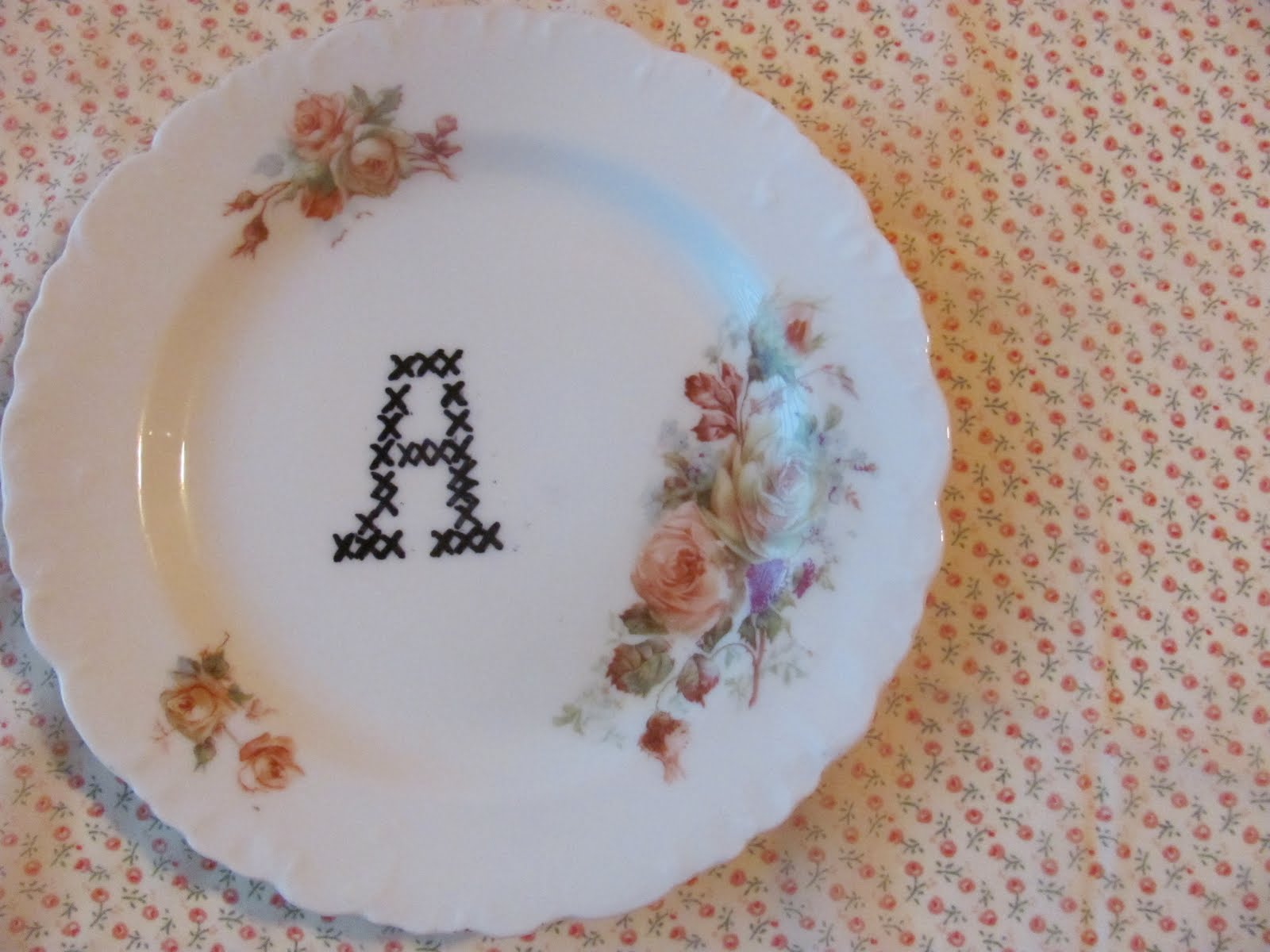 Simplybettie Cross Stitch Plate Tutorial