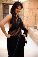 Anushka Back in Black Saree Hot Photos54