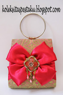 Pink Fanta Tas Pesta Tenun Sari India Mirip Songket Cantik