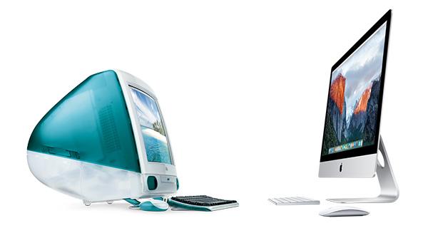 Diga olá para o progresso iMac 1998 a 2015