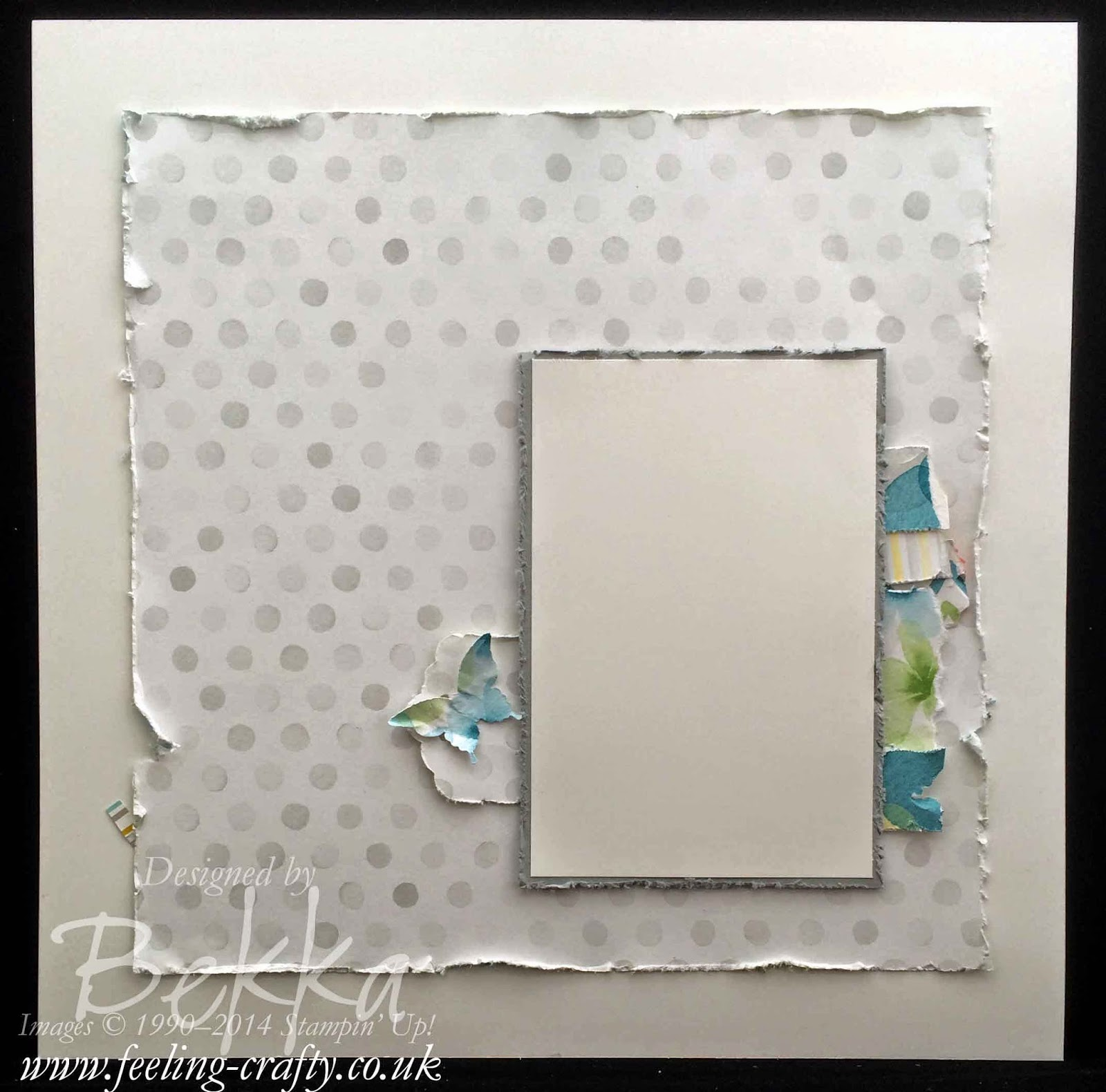 Happy Watercolor Scrapbook Start Point from Stampin' Up! UK Independent Demonstrator Bekka Prideaux.  Check out her blog each Saturday for Scrapbook Ideas