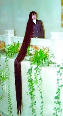 récord mundial 5 metros de cabellera