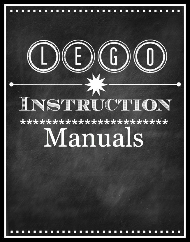 Blissful Roots Lego Instruction Manual Organizer Printable