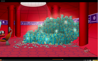 A pile of space cash