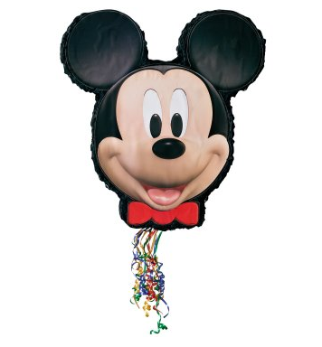 Mickey Mouse Pull String Pinata from Birthday Express #cbias