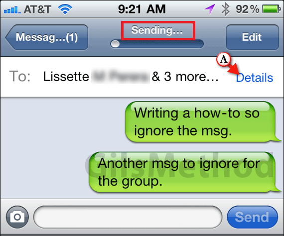 how to create a group text message on iphone 5