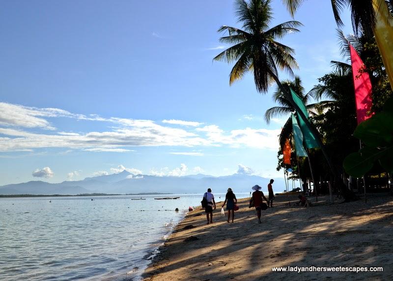 white sand beach of Pandan Island Palawan
