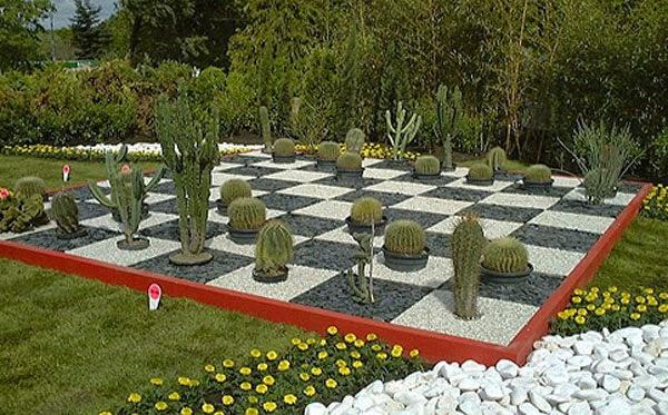 Beautiful garden ideas to shape the chessboard