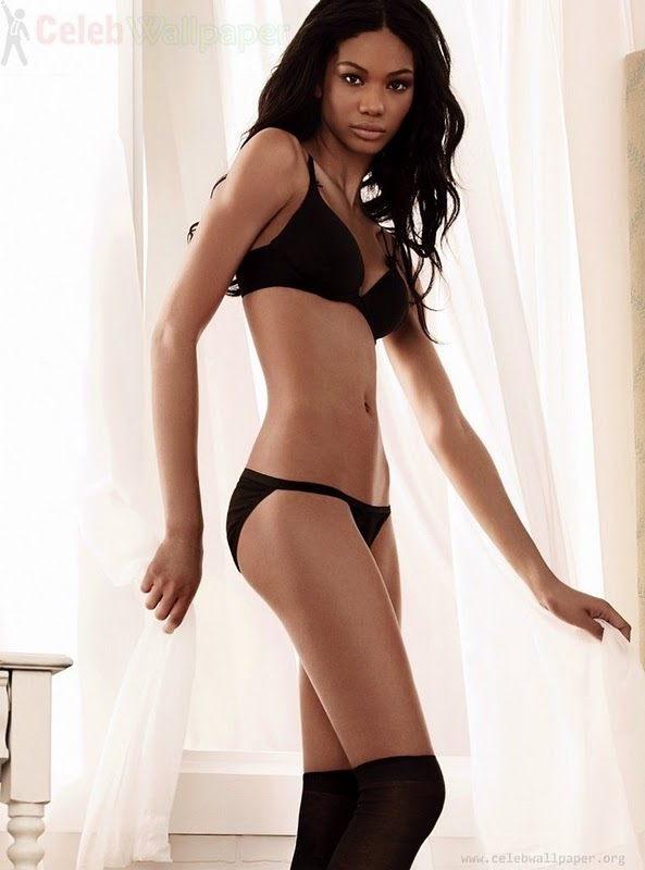 Chanel Iman in Lingerie