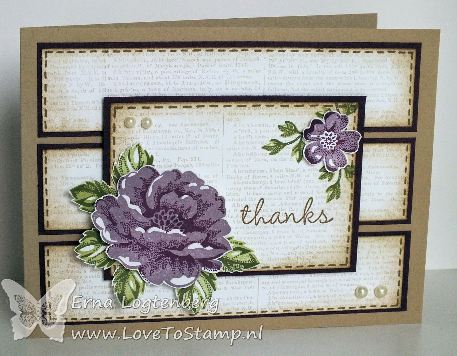 stampinup lovetostamp stippled blossoms dictionary hip hip hooray blackberry bliss