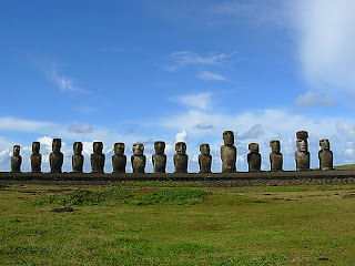 Pulau Paskah: Patung Moai