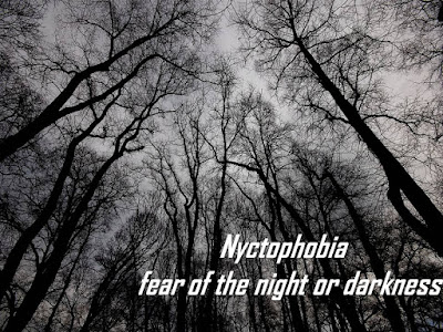 Nyctophobia, fear of night darkness