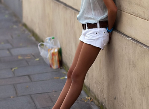 Girls In Short White Shorts - The Else