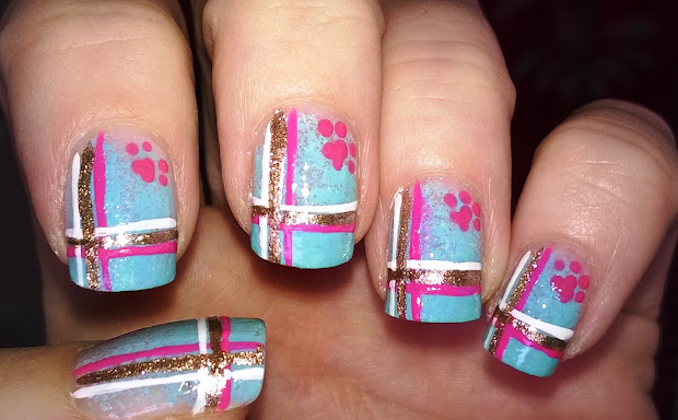 life world women ombre plaid nails