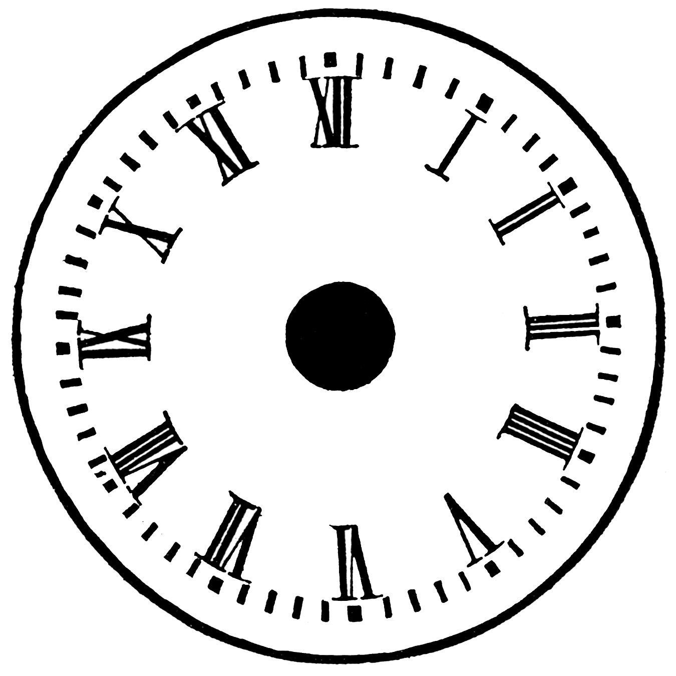 Challenger image within printable clock