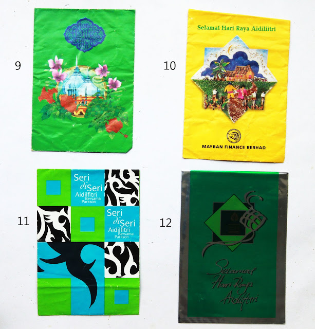 Koleksi sampul duit raya tahun 1996 - 2000