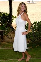 Simple Short Beach Halter Wedding Dress