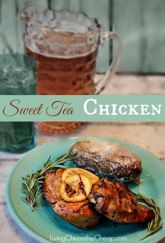 Favourite picks from Simple Supper Tuesday- Sweet Tea Chicken by Living Chic on the Cheap