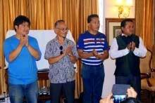 GJJYM members at the Phoolpati Mahotsav meeting in Kalimpong
