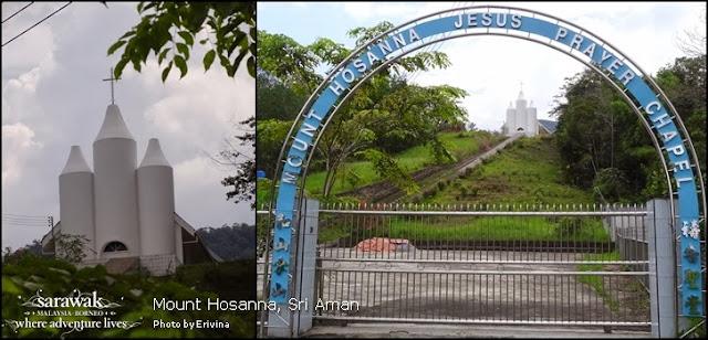 Combo picture of the Mount Hosanna Chapel | Sarawak Malaysia Borneo