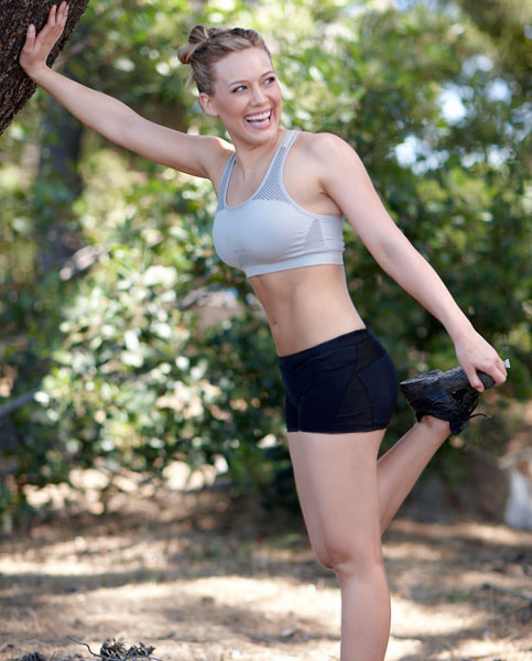 Hilary Duff - Sports Bra And Shorts In 2011