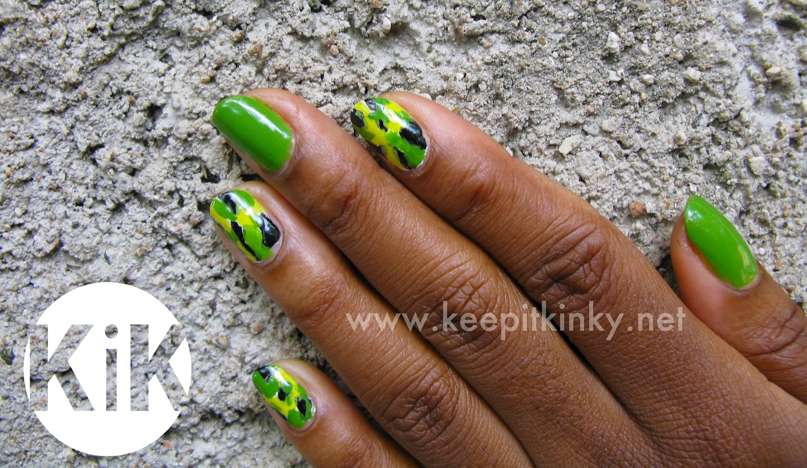 Jamaica Inspired Nail Art | Look 2 KiK Nail Art Challenge -