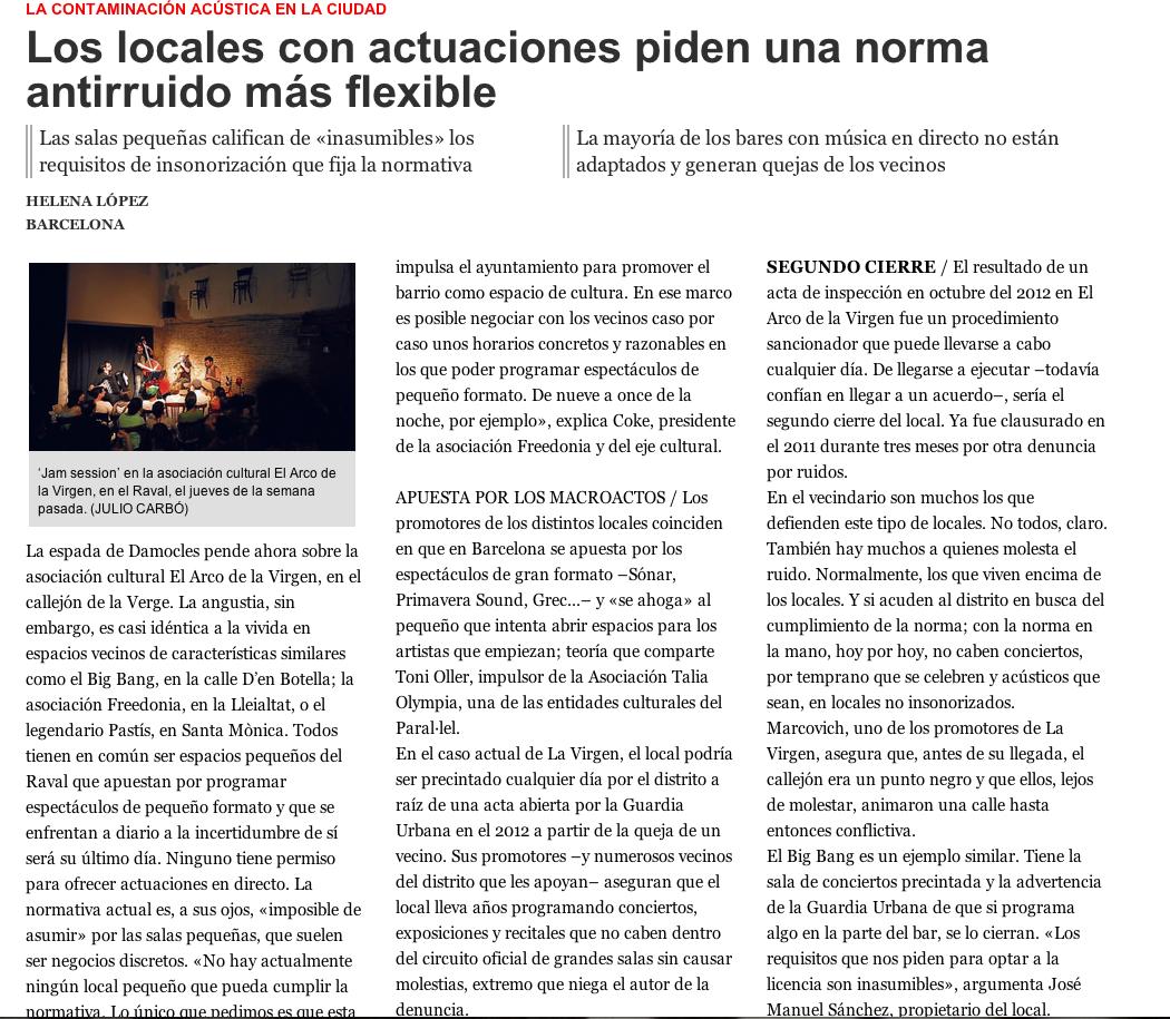 Article el Periodico Locals